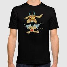 Evil Flying Feline Jackalope  Mens Fitted Tee Black SMALL