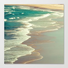 Indian Ocean's Emerald Turquoise Tropical Waters and Surf Canvas Print