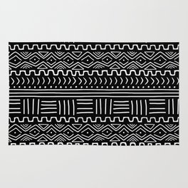 Mud Cloth on Black Rug