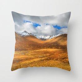 Distant Snow Throw Pillow