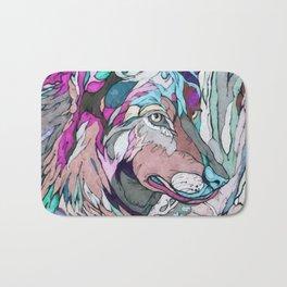 Colorful Wolf Bath Mat