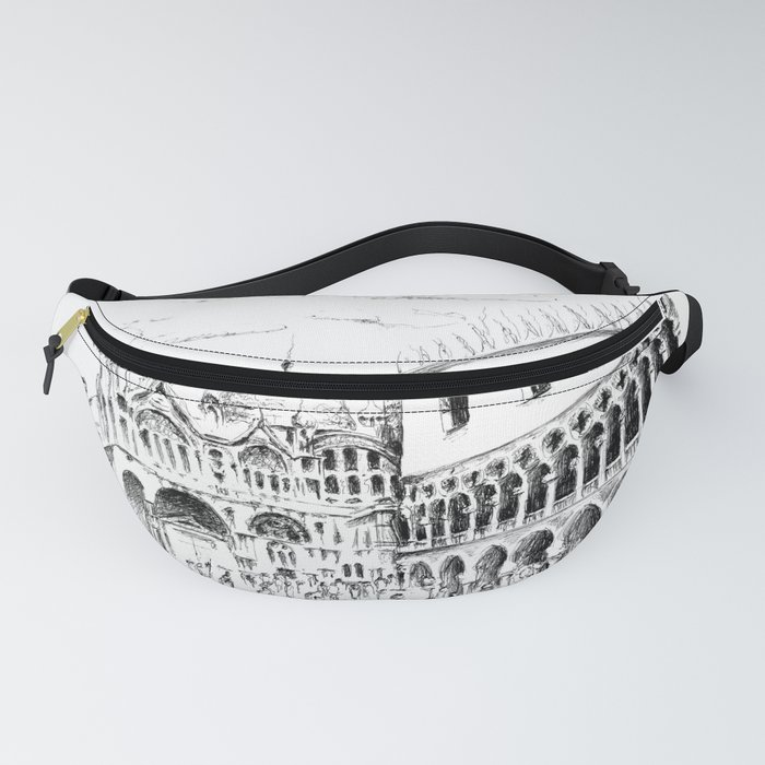 Sketch of San Marco Square in Venice Fanny Pack