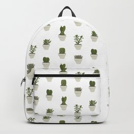 Cacti & Succulents - White Backpack