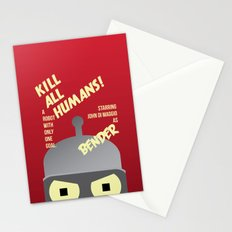 Kill All Humans Stationery Cards