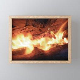Feuer Framed Mini Art Print