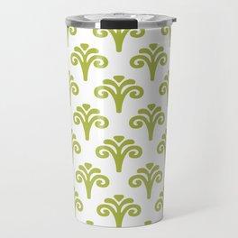 Floral Pattern Chartreuse 241 Travel Mug