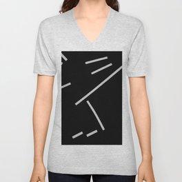 Diagonals II Unisex V-Neck