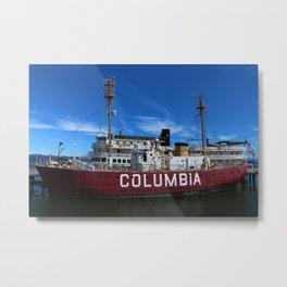 Fireship Columbia Metal Print