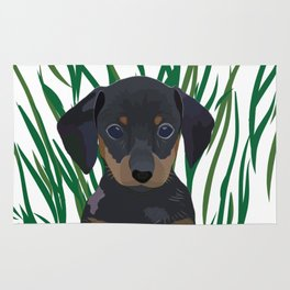 Sausage Dog Design Rug