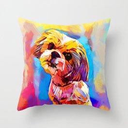 Shih Tzu 4 Throw Pillow