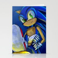 sonic Stationery Cards featuring Sonic by amanda.scopel
