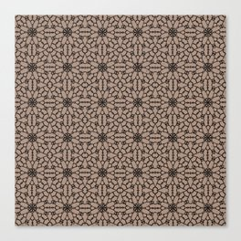 Warm Taupe Lace Canvas Print