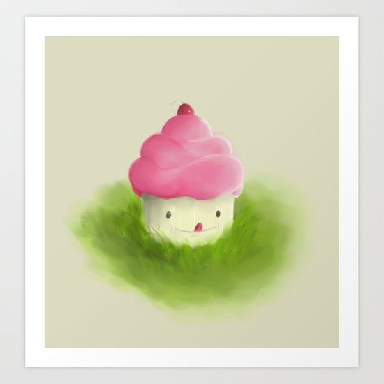 Go play with your cupcake Art Print
