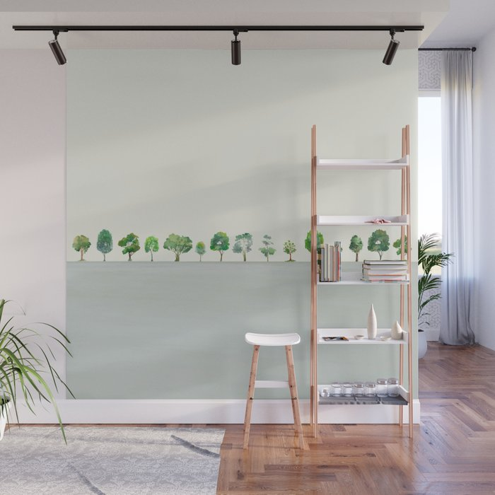 A Row Of Trees Wall Mural