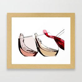 A Glass a Day... Framed Art Print