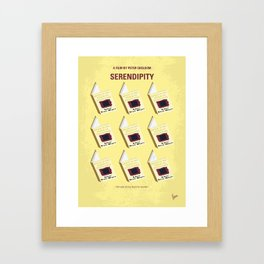 No981 My Serendipity minimal movie poster Framed Art Print