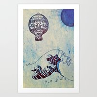 voyage Art Prints featuring Voyage by Cullen Rawlins