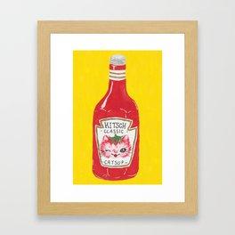 Kitschy Catsup Framed Art Print