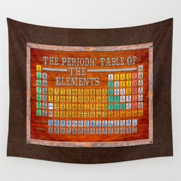 Vintage Industrial Periodic Table Of The Elements Wall Tapestry