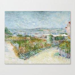 Vegetable Gardens at Montmartre by Vincent van Gogh Canvas Print
