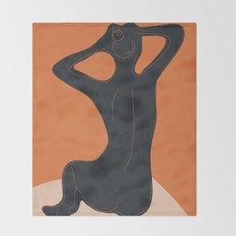 Abstract Nude I Throw Blanket