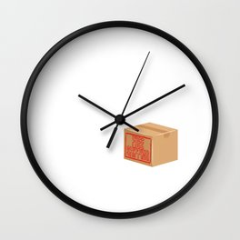 """""""I Just Really Like Boxes Ok?"""" T-shirt Design Shopping Buying Spending Browsing Purchasing Selling Wall Clock"""