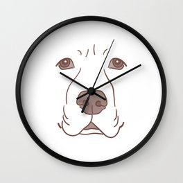 Labrador Face Funny Dog Halloween Costume Wall Clock