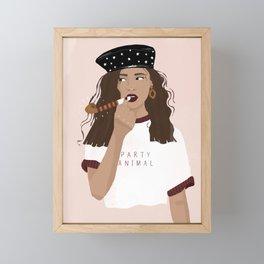 Party Animal Framed Mini Art Print
