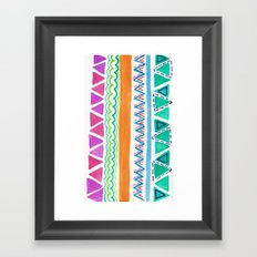 Watercolor Pattern Framed Art Print