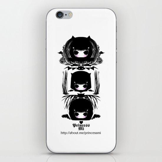 Three devil heads iPhone Skin