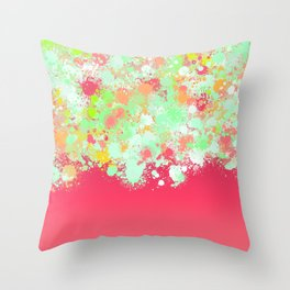 paint splatter on gradient pattern tgpi Throw Pillow