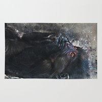 gorilla Area & Throw Rugs featuring Gorilla by jbjart