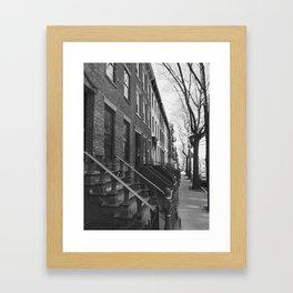 Boerum Hill Brownstones Framed Art Print