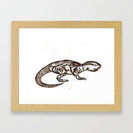 ROBOT ANIMAL ILLUSTRATION Framed Art Print