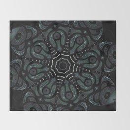 Dark Mandala #4 Throw Blanket