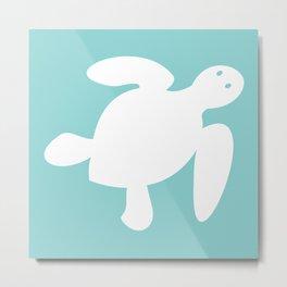Nautical Sea Turtle Metal Print