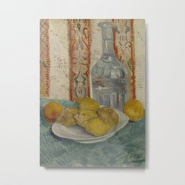 Carafe and Dish with Citrus Fruit Metal Print