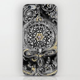 Manipura°^Golden Waves in Snowy Space iPhone Skin