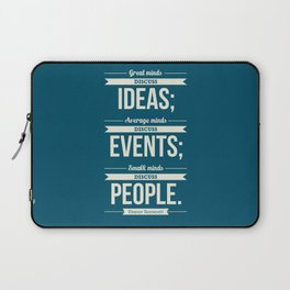Lab No. 4 - Eleanor Roosevelt Typography Print art Inspirational Quote Poster Laptop Sleeve