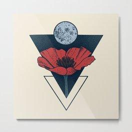 Moon Blossom Metal Print