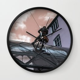 Against viruses and dirt Wall Clock