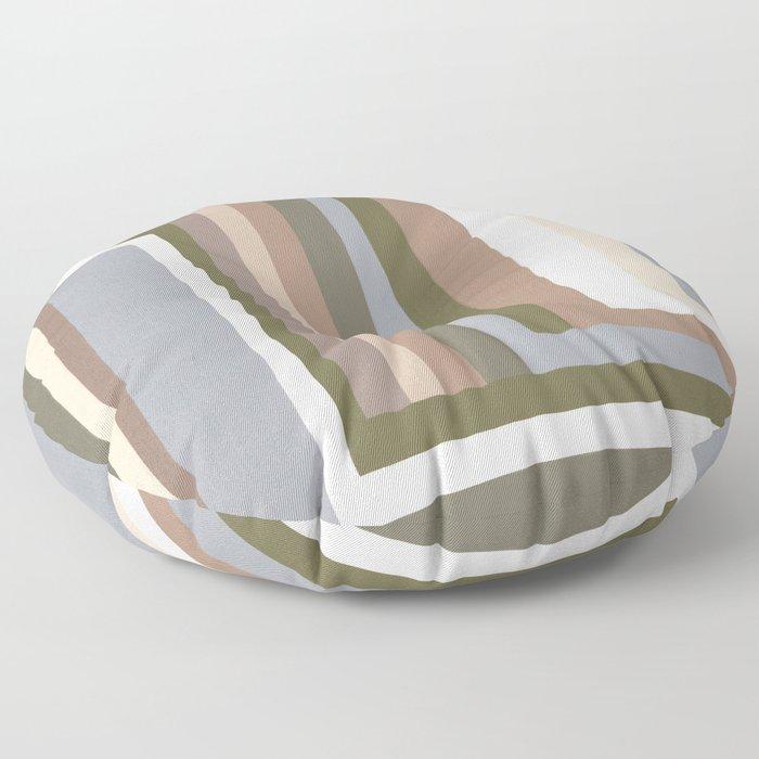 Abstract Neutrals III Floor Pillow