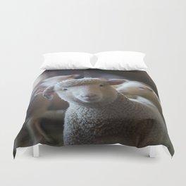 Sheep Looking at Camera Duvet Cover