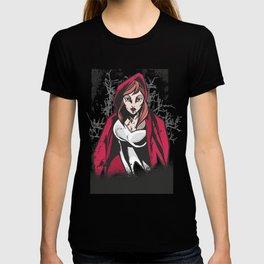 Red Coat Woman Vampire Forest Dracula Women Dark T-shirt
