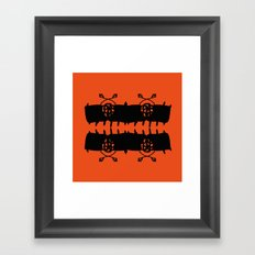 Orange AbstractArtwork Framed Art Print
