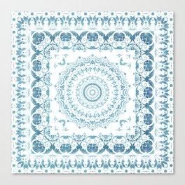 In Blue (Pattern Mandala) Canvas Print