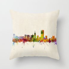 San Francisco City Skyline Throw Pillow