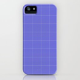 Blue Gingham iPhone Case