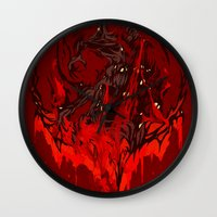 werewolf Wall Clocks featuring Werewolf by Kivapo
