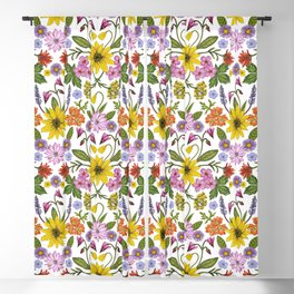 Montana Wildflowers Blackout Curtain